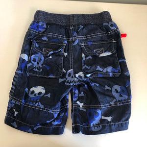Mini Boden Bottoms - Mini Boden Adventure Shorts Navy Skull Print